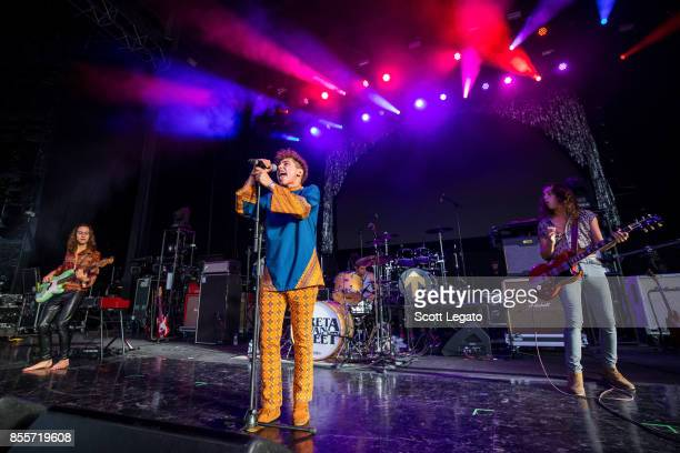 Greta Van Fleet perform during Riff Fest at DTE Energy Music Theater on September 29 2017 in Clarkston Michigan
