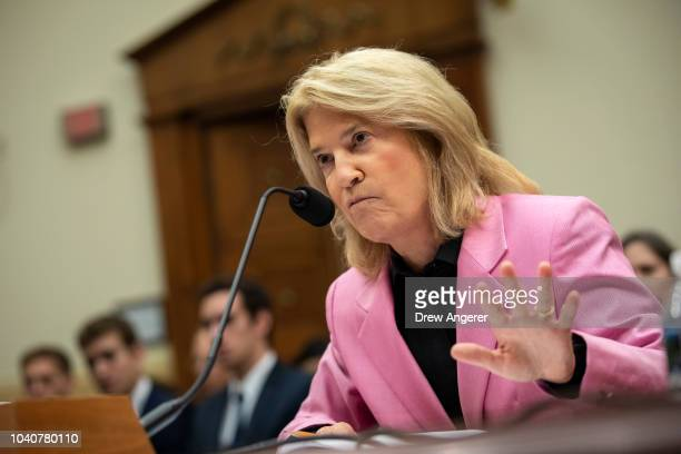 Greta Van Susteren television news commentator with Voice of America testifies during a House Foreign Affairs Committee hearing concerning the...