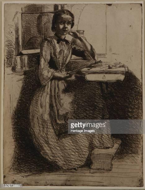 Gretchen at Heidelberg, 1858. Artist James Abbott McNeill Whistler.