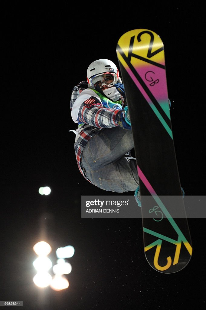 US Gretchen Bleiler competes in the Women's Halfpipe Final at Cypress Mountain during the Vancouver Winter Olympics, north of Vancouver on February 18, 2010.
