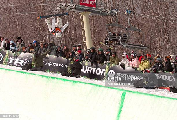 Gretchen Bleiler Halfpipe Finals March 18th during 24th Annual Burton US Open Snowboarding Championships at Stratton Mountain in Stratton Vermont...