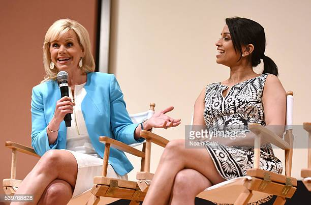 Gretchen Carlson and Reena Ninan speak Women at the Top Female Empowerment in Media Panel at the 2016 Greenwich International Film Festival on June...