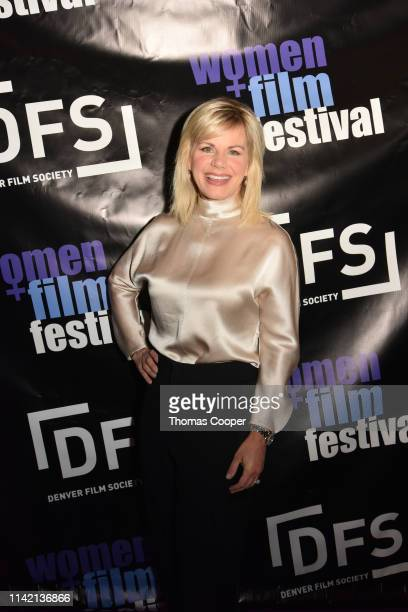 Gretchen Carlson on the carpet during the Denver Film Society's Women and Film Festival screening of Breaking The Silence at Sie FilmCenter on April...