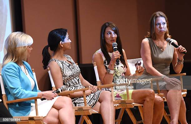 Gretchen Carlson Reena Ninan Nancy Armstrong and Hannah Storm speaks Women at the Top Female Empowerment in Media Panel at the 2016 Greenwich...