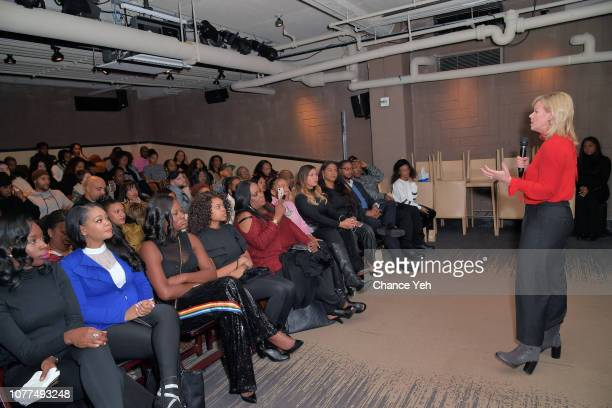 Gretchen Carlson speaks at Lifetime / NeueHouse Luminaries series 'Surviving R Kelly' documentary screening and conversation at Neuehouse NY on...
