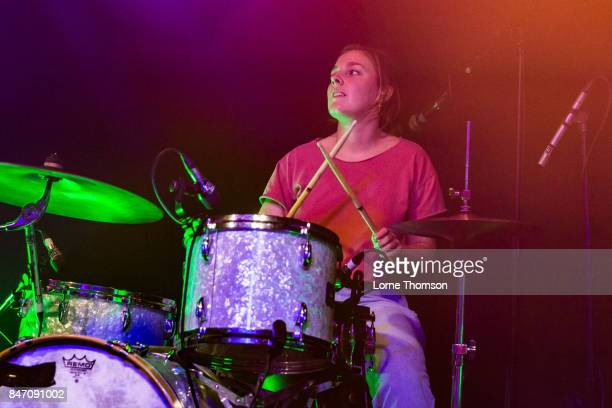 Gretchen Grimm of Chastity Belt performs at The Garage on September 14 2017 in London England