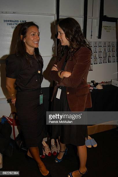 Gretchen Gunlocke and Patricia Herrera Lansing attend Carolina Herrera Spring 2006 Fashion Show at The Plaza at Bryant Park on September 12 2005 in...