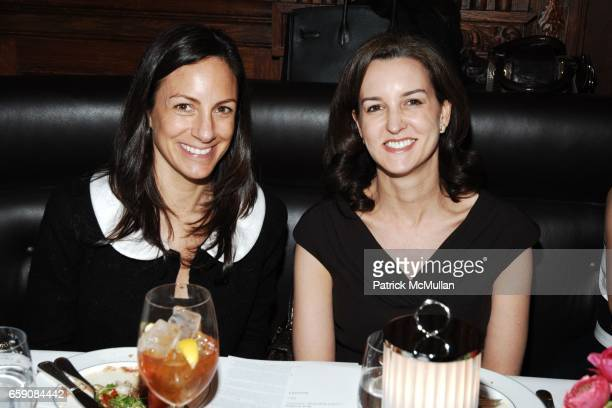 Gretchen Gunlocke Fenton and Alexia Hamm Ryan attend Society of Memorial Sloan Kettering Senior Associate Luncheon at The Oak Room on April 6 2009 in...