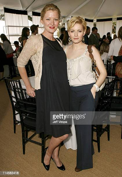Gretchen Mol and Elisha Cuthbert during Coach Fragrance Launch to Benefit EBMRF in Los Angeles California United States