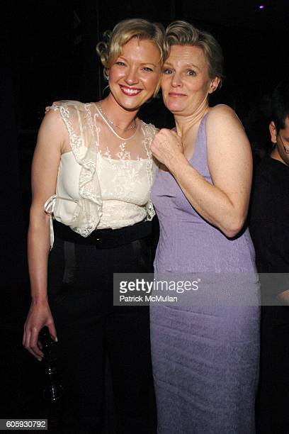 Gretchen Mol and Mary Harron attend INTERVIEW MAGAZINE afterparty for the NY Premiere of THE NOTORIOUS BETTIE PAGE at Bed on April 10 2006 in New...