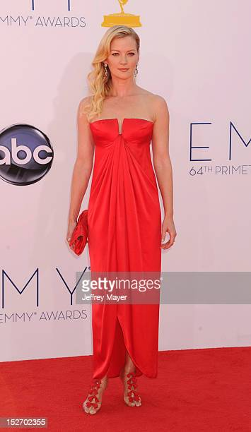 Gretchen Mol arrives at the 64th Primetime Emmy Awards at Nokia Theatre LA Live on September 23 2012 in Los Angeles California