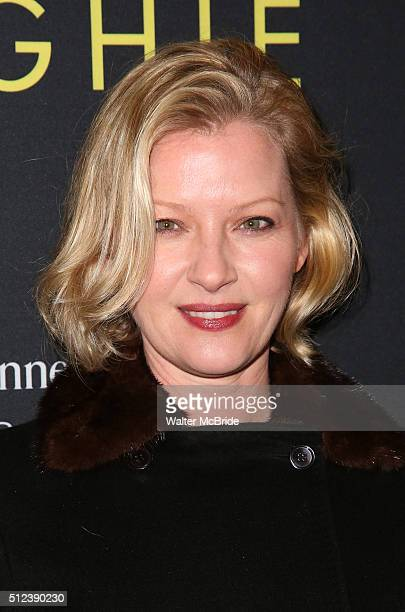 Gretchen Mol attends the Broadway opening night performance of 'Hughie' starring Forrest Whitaker at the Booth Theater on February 25 2016 in New...