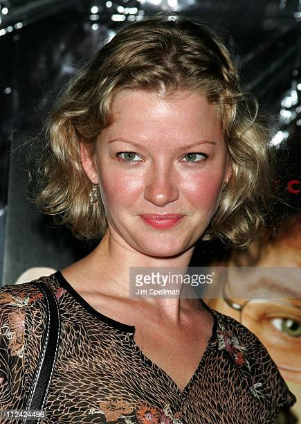 Gretchen Mol during Fahrenheit 9/11 New York Screening Outside Arrivals at Ziegfeld Theater in New York City New York United States