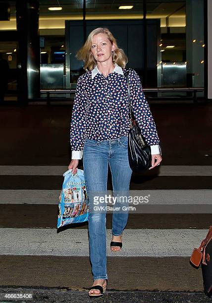 Gretchen Mol is seen at Los Angeles International Airport on September 22 2012 in Los Angeles California
