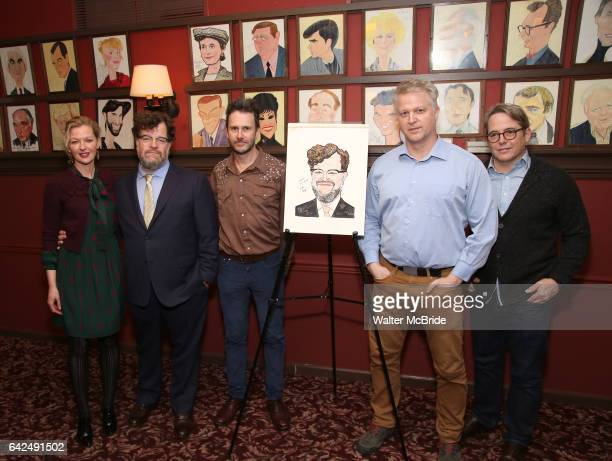 Gretchen Mol Kenneth Lonergan Josh Hamilton CJ Wilson Matthew Broderick attend the unveiling of the Kenneth Lonergan caricature at Sardi's on...