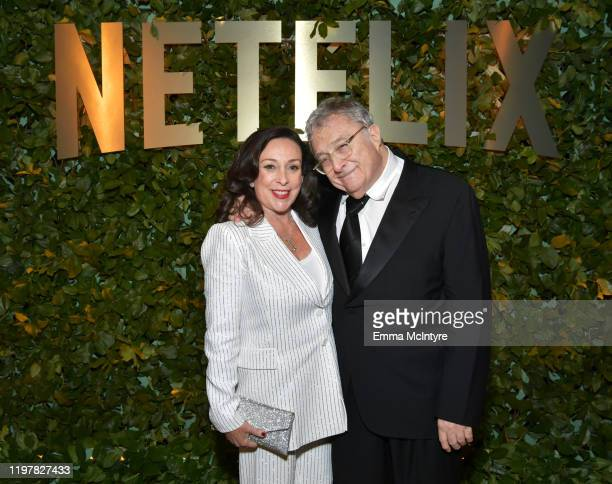 Gretchen Preece and Randy Newman attend the Netflix 2020 Golden Globes After Party on January 05 2020 in Los Angeles California