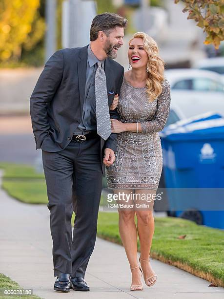 Gretchen Rossi and Slade Smiley are seen on September 15 2016 in Los Angeles California