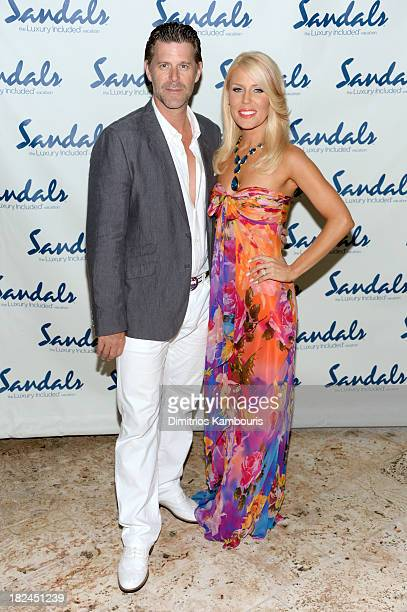 Gretchen Rossi and Slade Smiley attend the Gala Dinner and Awards during Day Three of the Sandals Emerald Bay Celebrity Getaway and Golf Weekend on...