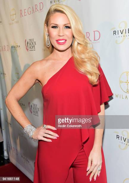 Gretchen Rossi attends Regard Magazine Spring 2018 Cover Unveiling Party presented by Sony Studios featuring the cast of 'The Oath' on Crackle at...