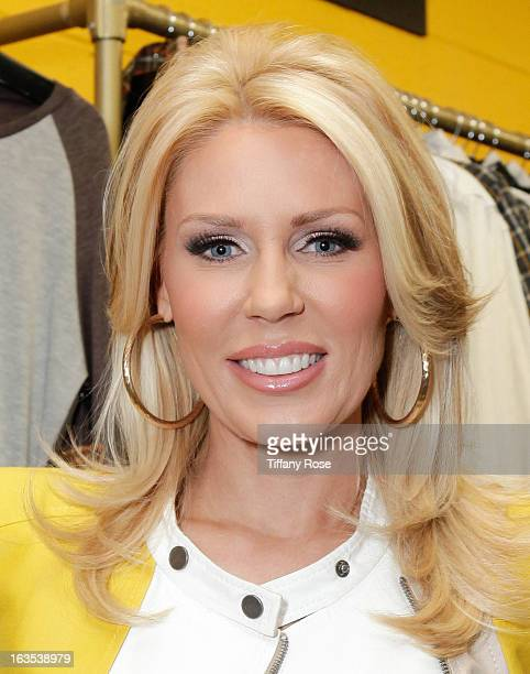 Gretchen Rossi attends the Grand Opening Of DaVinci Of California Hosted by The Bachelor's Chris Harrison on March 11 2013 in Los Angeles California