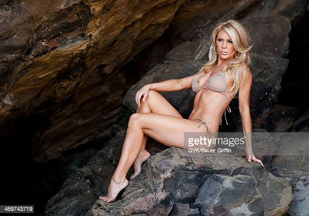 Gretchen Rossi is seen at a photoshoot on the beach on March 25 2013 in Los Angeles California
