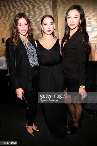 Gretchen Schwartz Janel Tanna and Anna Ackley attend Janel Tanna's Cover Party By Resident Magazine at Philippe Chow on October 9 2019 in New York...