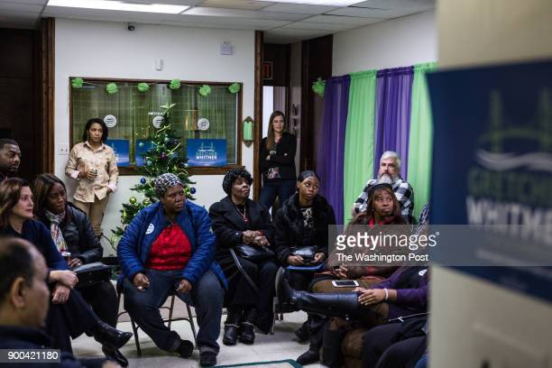 Gretchen Whitmer and community members of Detroit at the United Precinct Delegates office on W McNichols Rd on December 19 2017