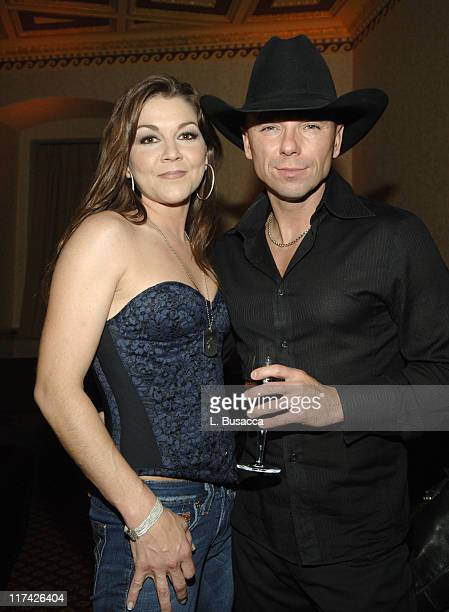 Gretchen Wilson and Kenny Chesney during The 39th Annual CMA Awards SONY BMG After Party Inside at Gotham Hall in New York City New York United States
