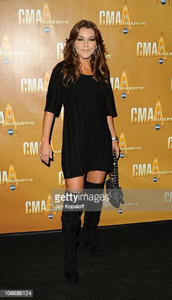 Gretchen Wilson attends the 44th Annual CMA Awards at the Bridgestone Arena on November 10 2010 in Nashville Tennessee