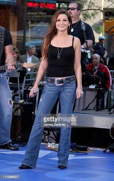 Gretchen Wilson during Gretchen Wilson Performs on NBC's 'The Today Show' September 27 2005 at NBC Studios Rockafeller Plaza in New York City New...
