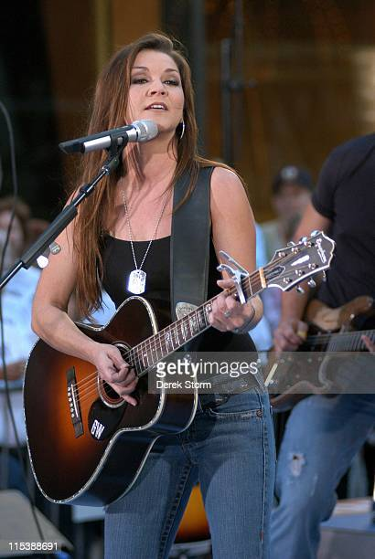 Gretchen Wilson during Gretchen Wilson Performs on the Today Show September 27 2005 at NBC Studios Rockafeller Plaza in New York City New York United...