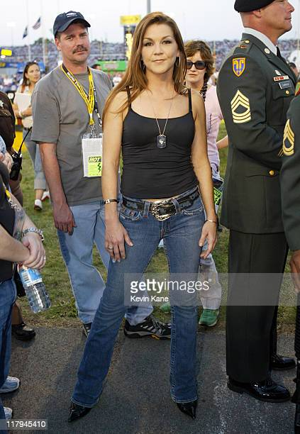 Gretchen Wilson during prerace at the Chevy Rock Roll 400 Richmond International Raceway September 10 2005