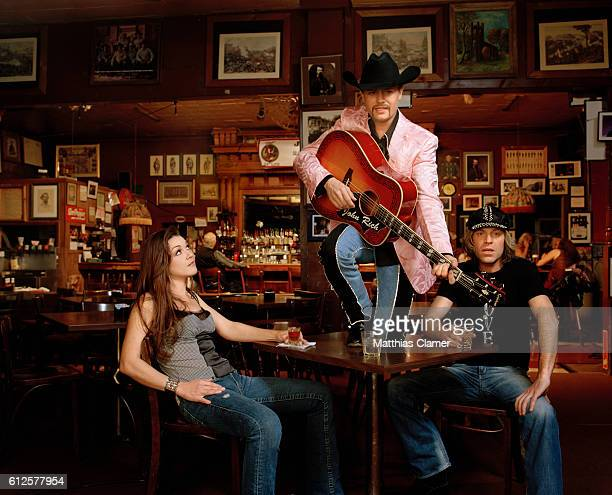 Gretchen Wilson John Rich and Big Kenny Styling by Christiev Alphin Wilson's hair and makeup by Candy Burton for MAC Cosmetics Big Rich's grooming by...