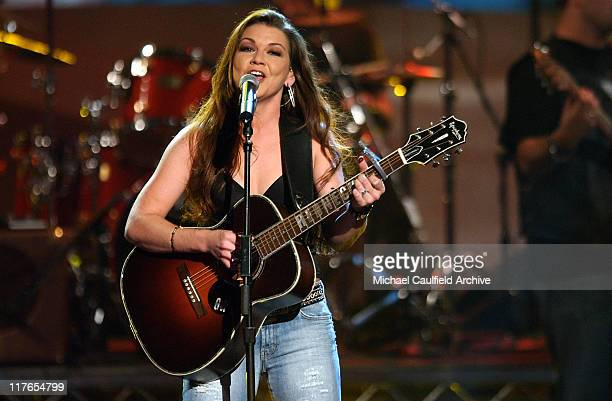 Gretchen Wilson performs Redneck Woman during 32nd Annual American Music Awards Show at Shrine Auditorium in Los Angeles California United States