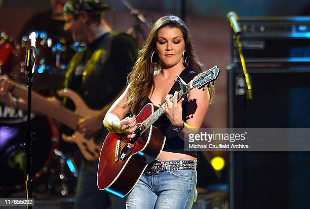 Gretchen Wilson performs 'Redneck Woman' during 32nd Annual American Music Awards Show at Shrine Auditorium in Los Angeles California United States