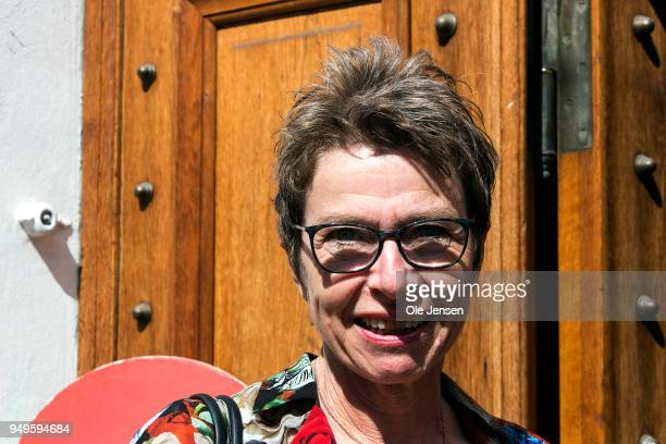 Grete Christensen Chairman for Danish Nurses Organization and chief negotiator for Danish Public Regions seen at the demonstration in front of the...