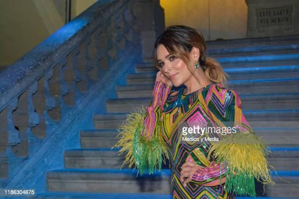 Gretell Valdez poses for photos during the presentatiion of the serie 'Medicos' latin adaptacion of Greys Anatomy on November 7 2019 in Mexico City...