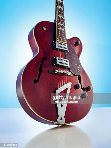A Gretsch G2420 Streamliner Hollow Body electric guitar with a Walnut finish taken on March 6 2019