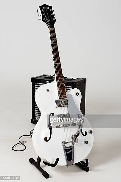 Gretsch G5120 Electromatic archtop guitar and Roland Cube 80GX amp