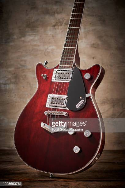 A Gretsch G5222 Double Jet electric guitar with a Walnut Stain finish taken on February 20 2020