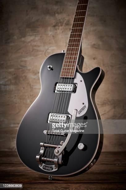 A Gretsch G5260T Jet Baritone electric guitar taken on February 20 2020