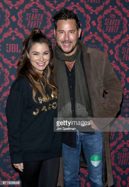 Gretta Monahan and Ricky Paull Goldin attend the season 2 premiere of 'Search Party' hosted by TBS at Public Arts at Public on November 8 2017 in New...