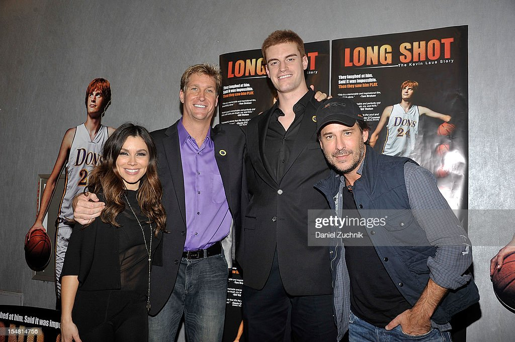 Gretta Monahan, Franklin Martin, Kevin Laue and Ricky Paul Goldin attend the 'Long Shot: The Kevin Laue Story' New York Premiere at Quad Cinema on October 26, 2012 in New York City.