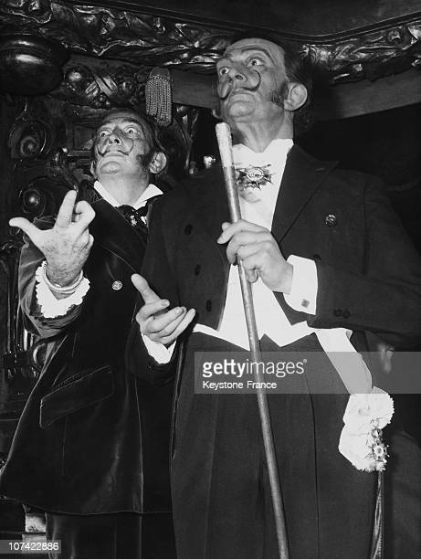 Grevin Museum Salvador Dali At The Inauguration Of His Wax Duplicate In Paris On December 4Th 1968