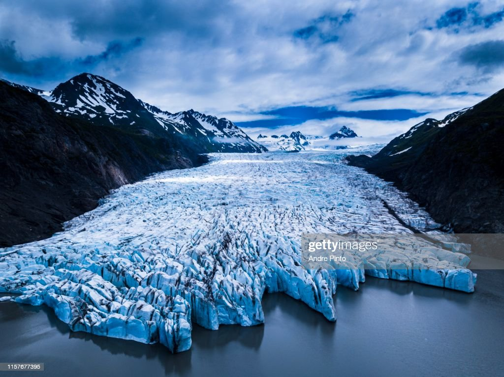 Grewingk Glacier : Stock Photo