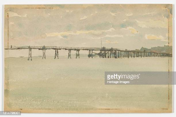 Grey and Silver?Pier, Southend, 1882-1883. Artist James Abbott McNeill Whistler.