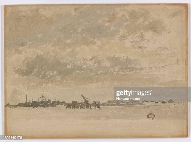Grey and Silver–Purfleet, 1881-1883. Artist James Abbott McNeill Whistler.