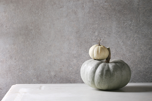 Grey and white pumpkins - gettyimageskorea