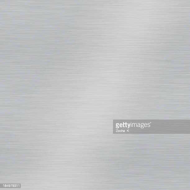 grey brushed metal plate square sample - metallic stock photos and pictures