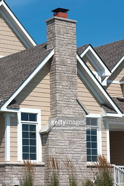 grey chimney - chimney stock pictures, royalty-free photos & images